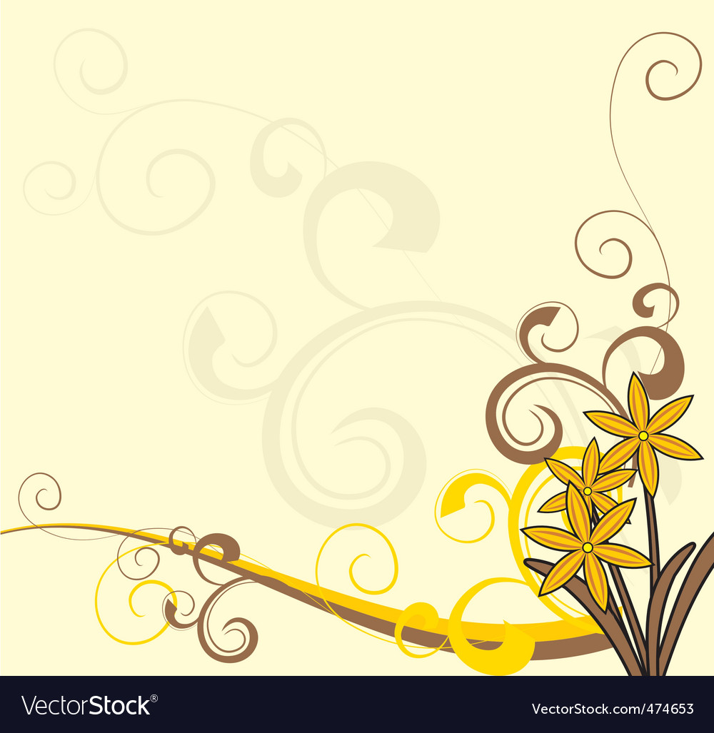... flowers ornate background vector 474653 Yellow Flower Background