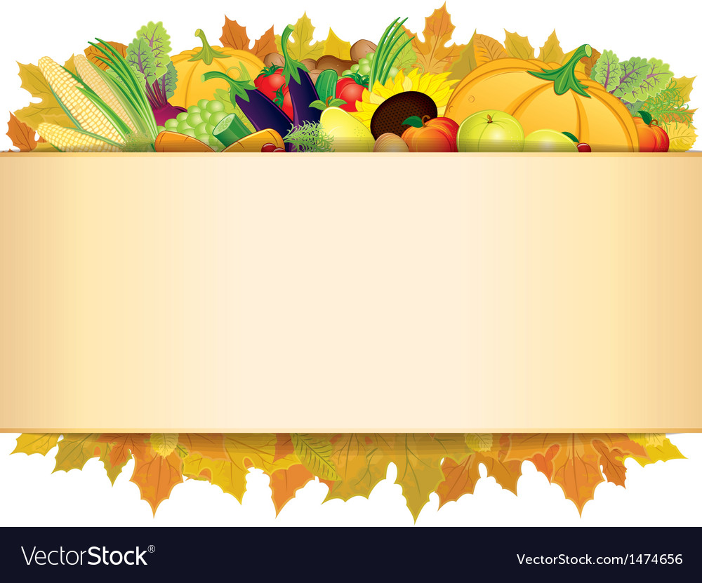 Autumn thanksgiving background eps 10 vector