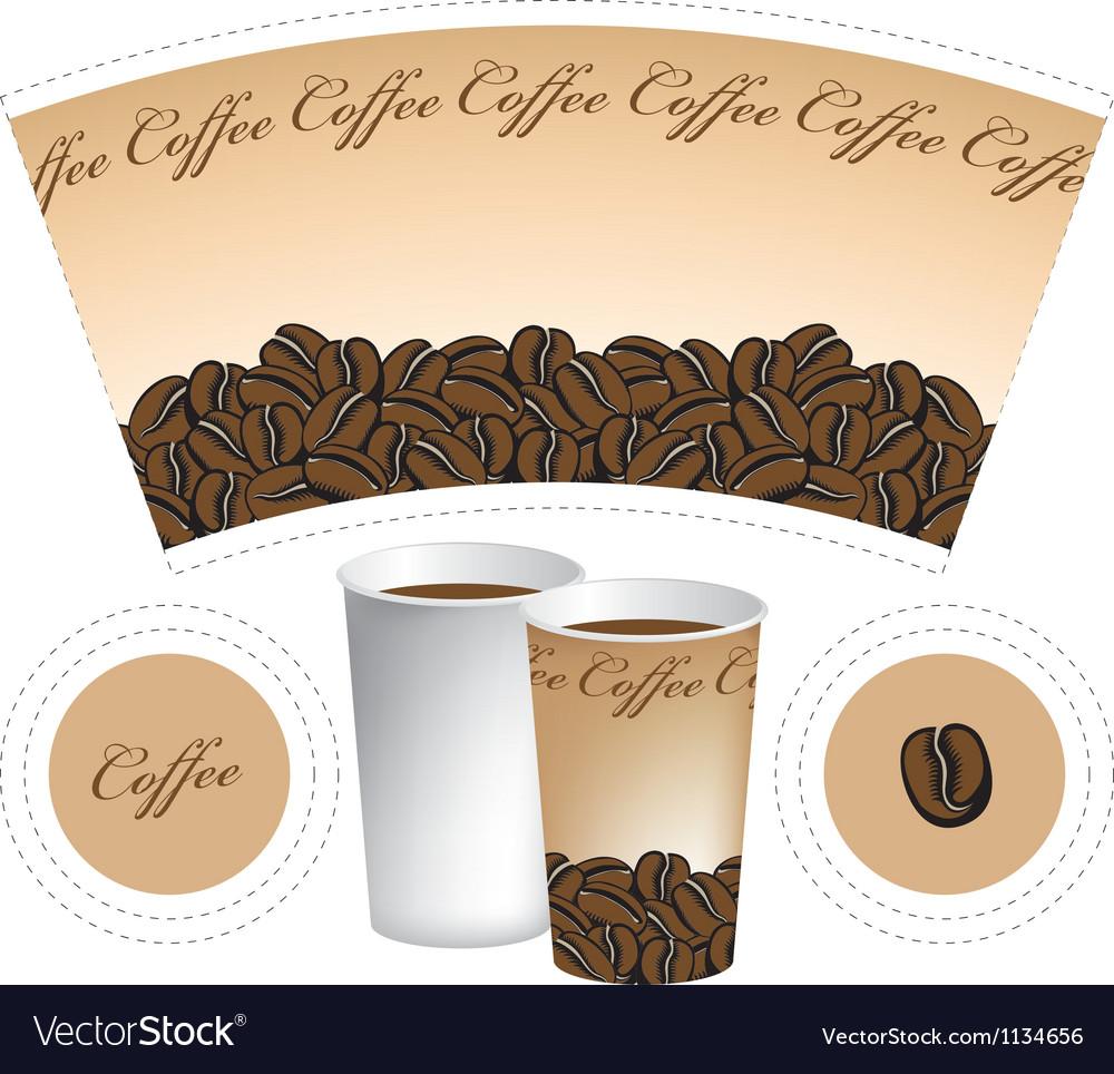 Paper cup vector