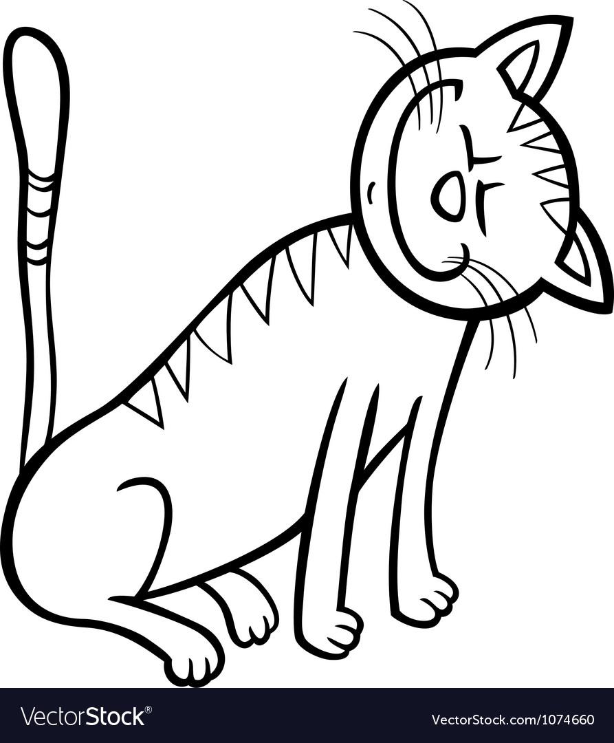 Happy Cat Clip Art Free Happy cat cartoon for coloring