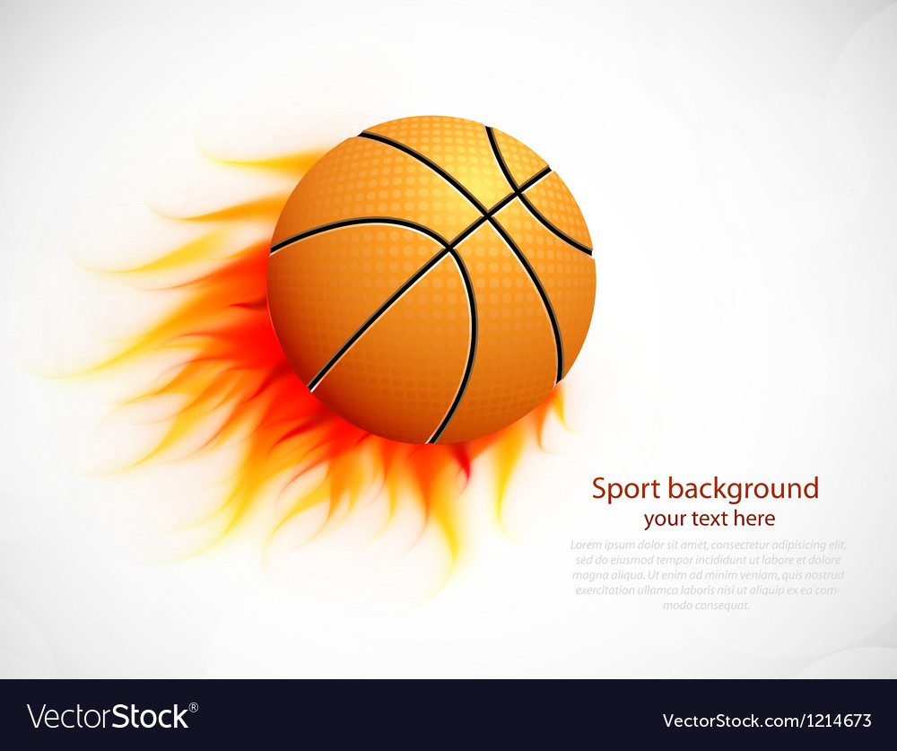 Ball with flame vector