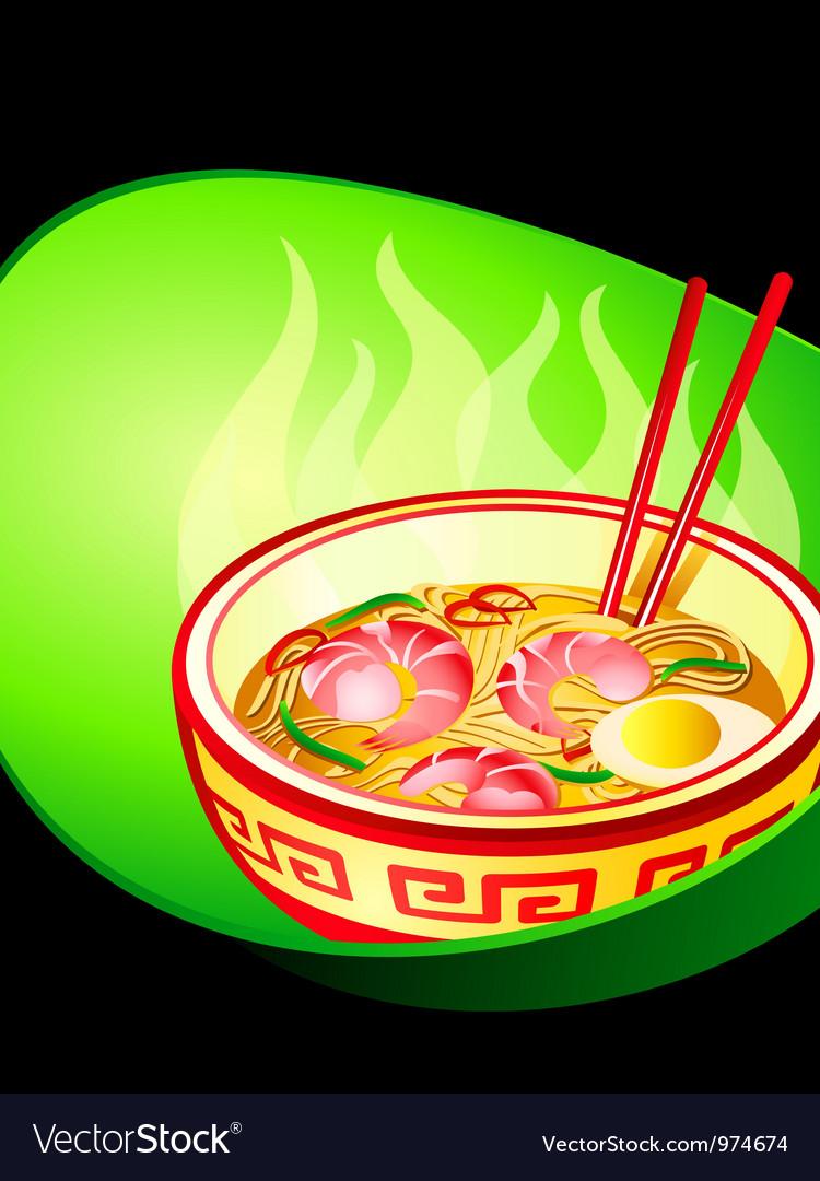 Ramen noodle vector