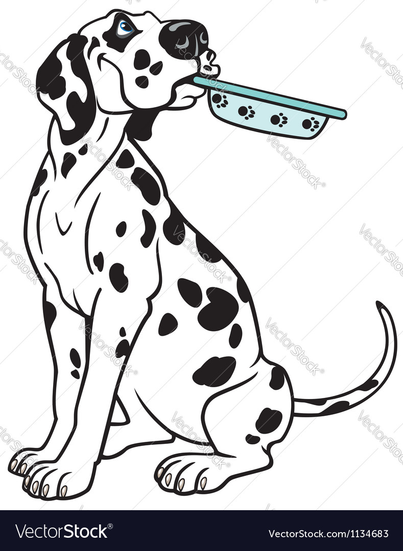 Cartoon dalmatian vector