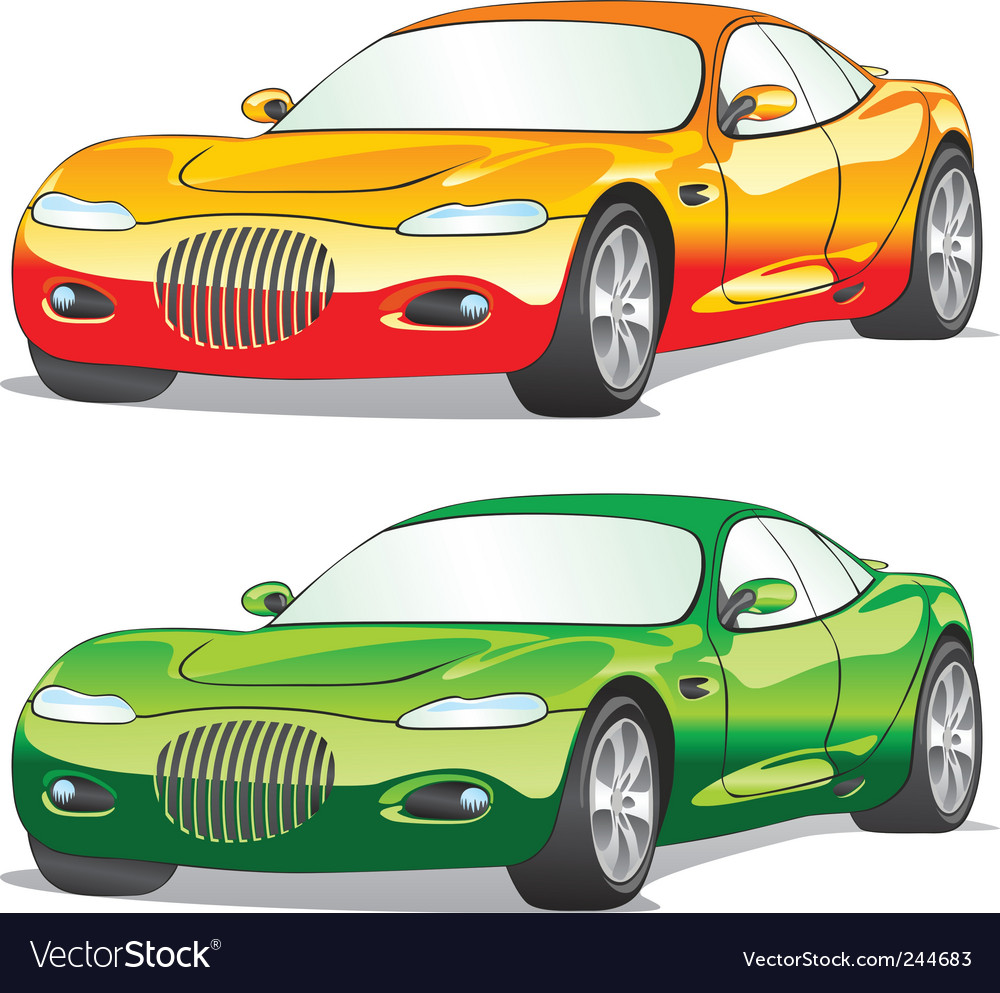 Isolated cars vector
