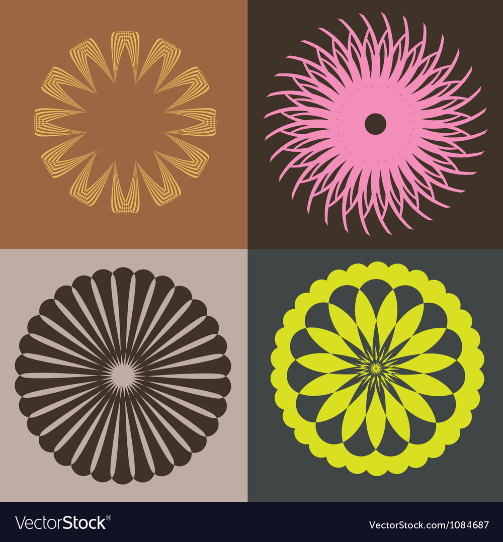 Optical collection from round elements vector