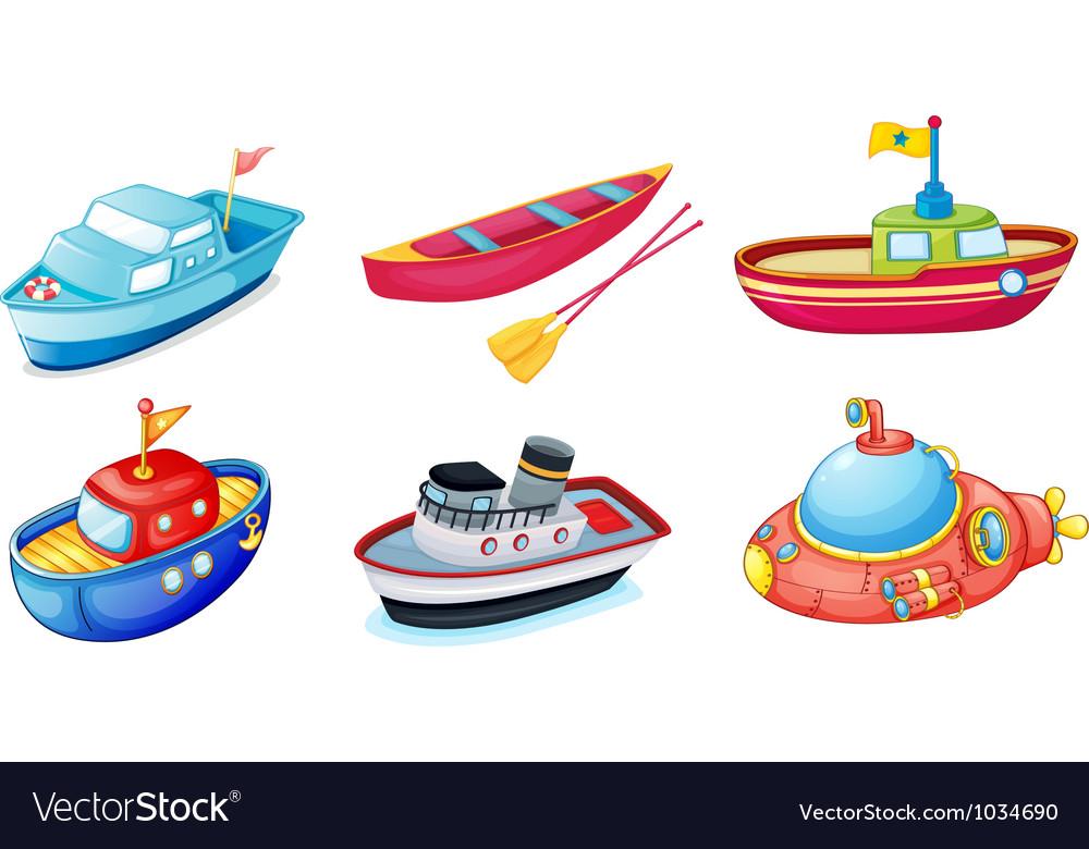 Various ships vector