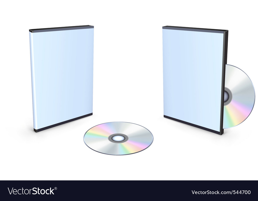 Blank dvd case vector