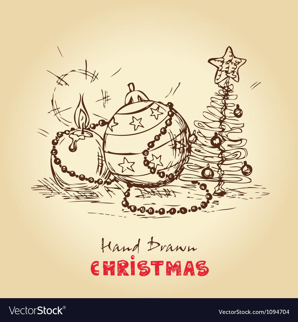 Christmas vintage card vector
