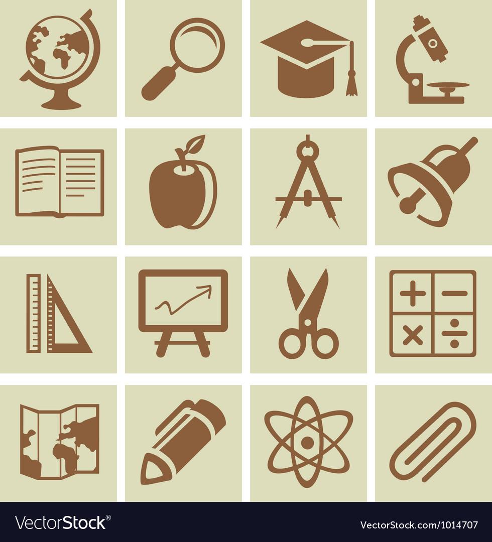 Design elements for school and university vector