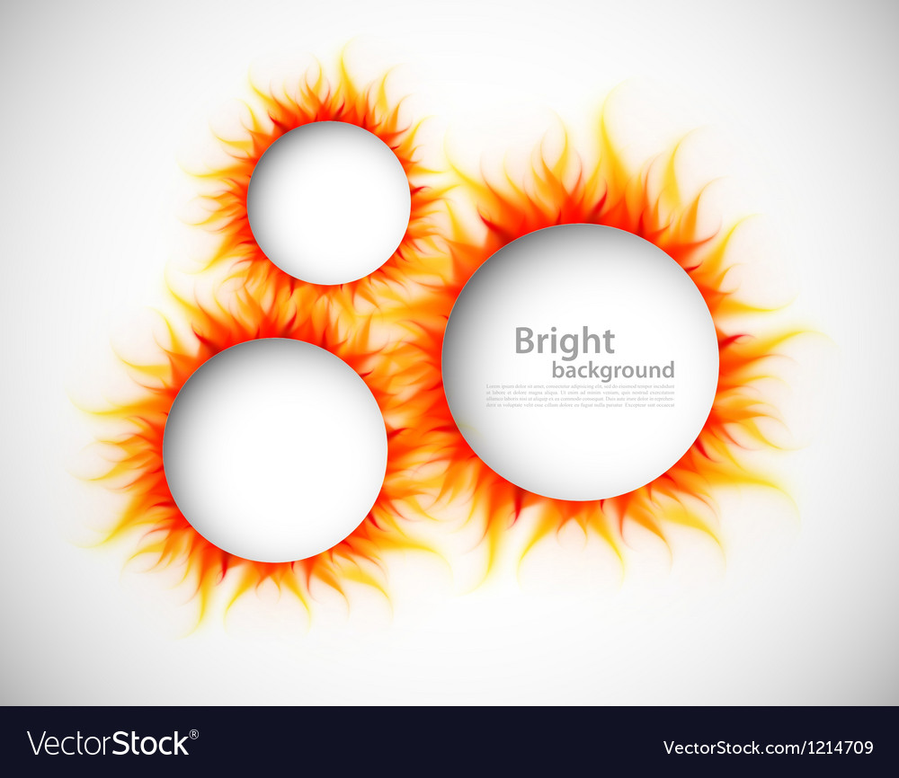 Circles with flames vector