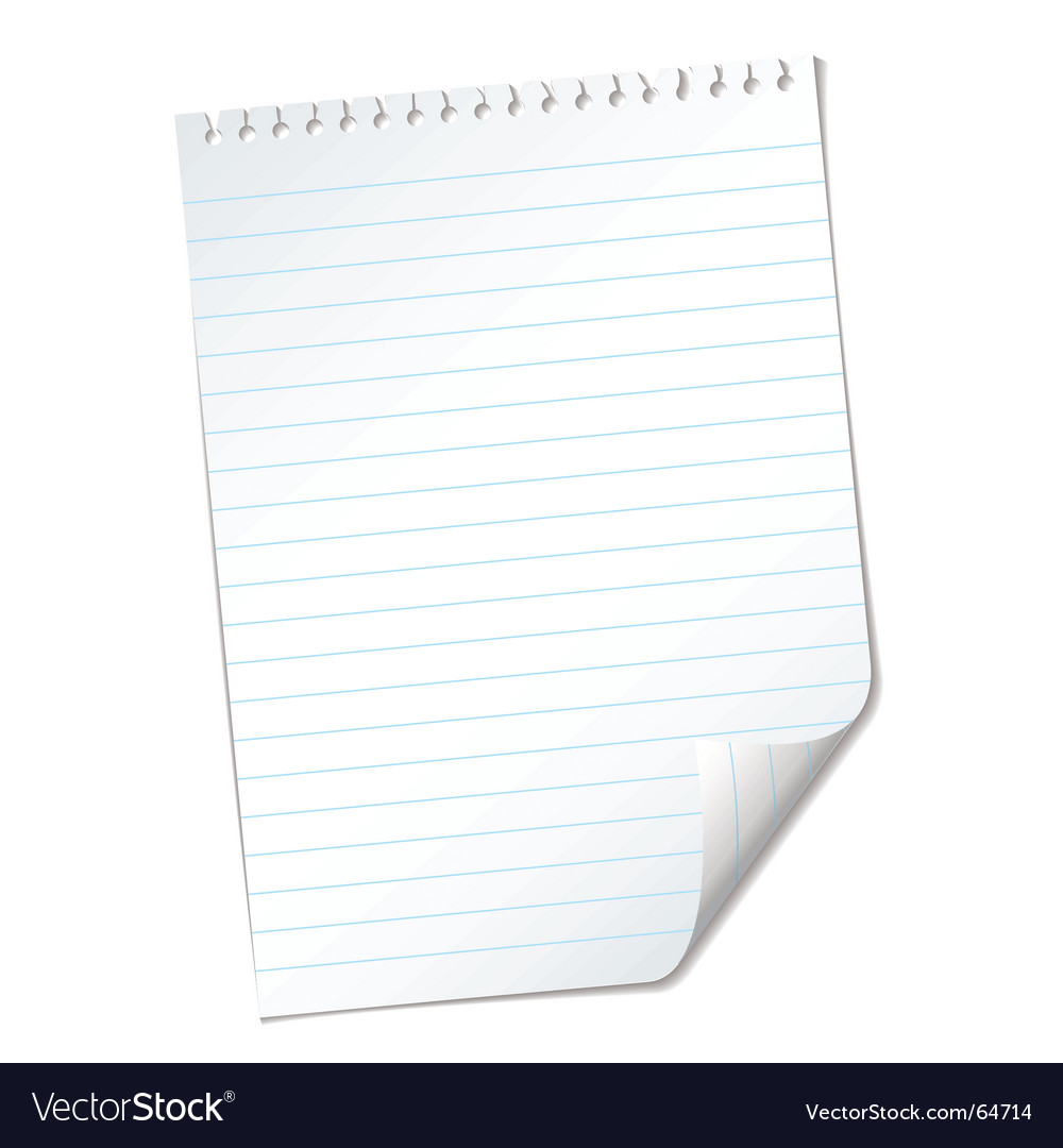 Ripped lined page vector