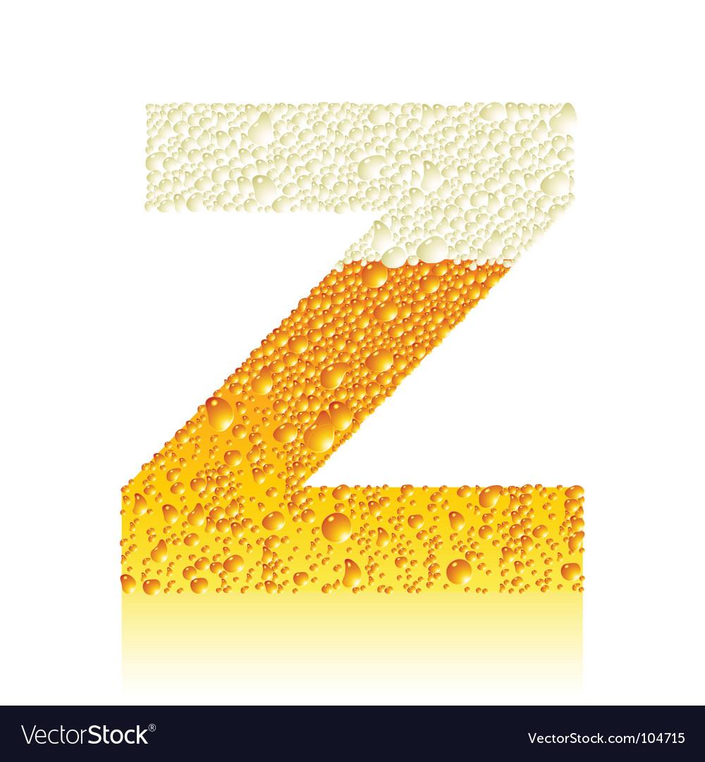 z alphabet images  Alphabet beer z vector