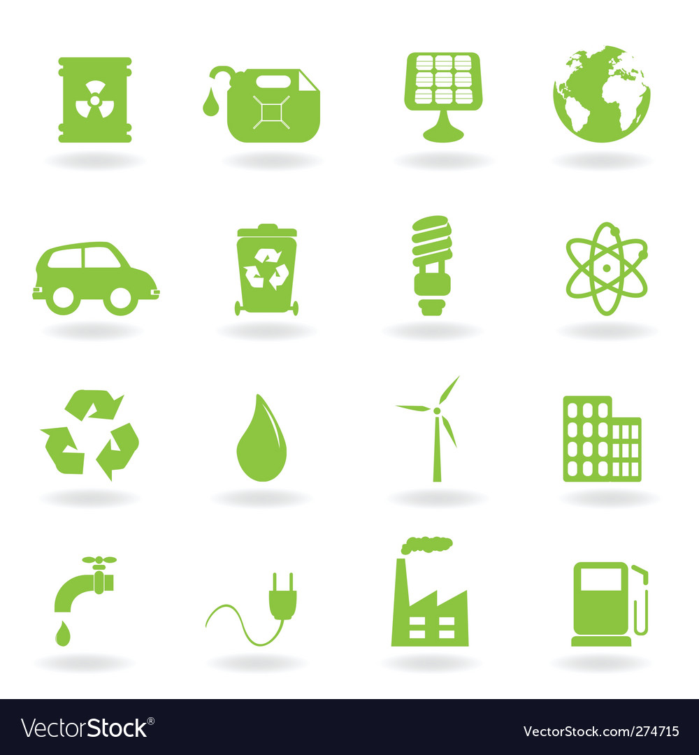 Ecofriendly icons vector