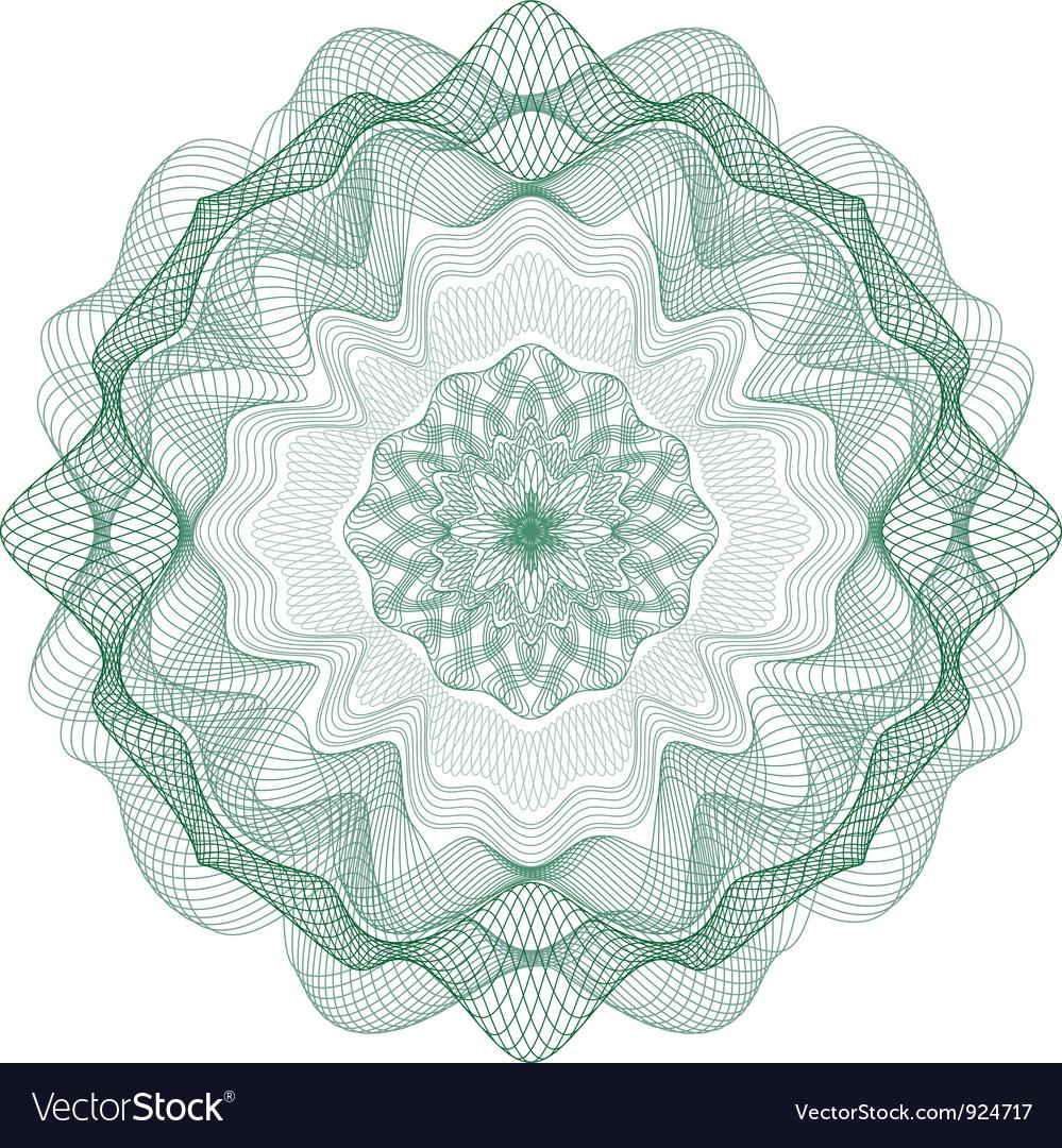 Rosetka 1 green vector