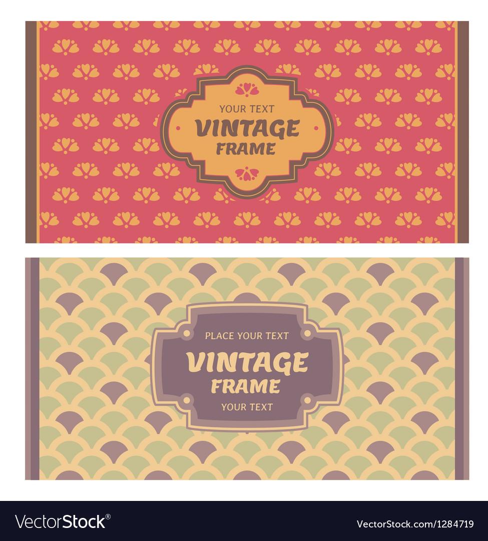 Frames in retro style vector