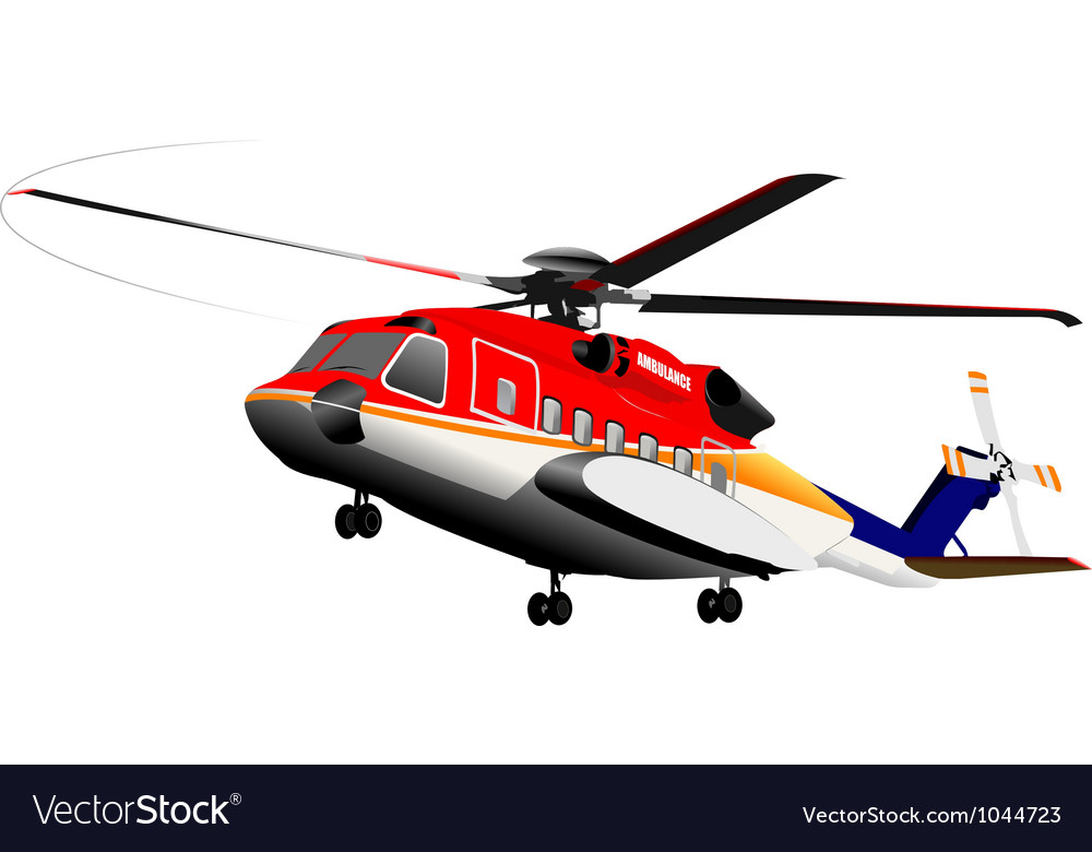 Rescue emergency helicopter vector