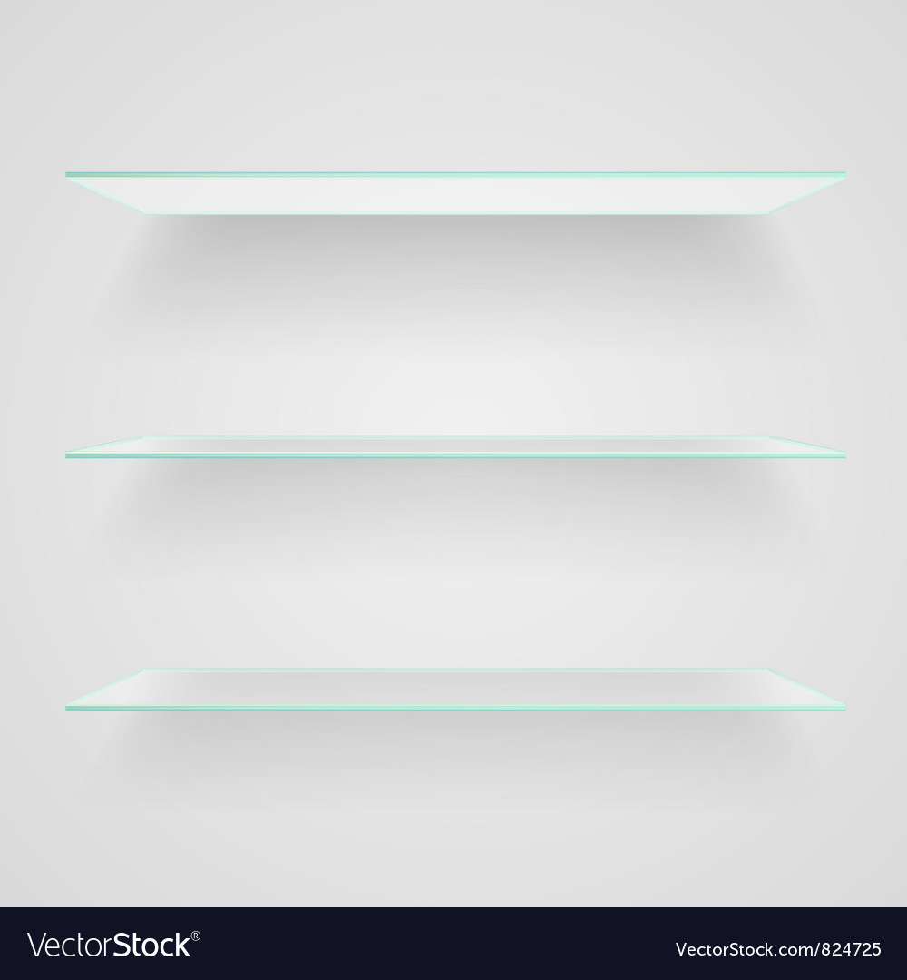 Glass shelves vector