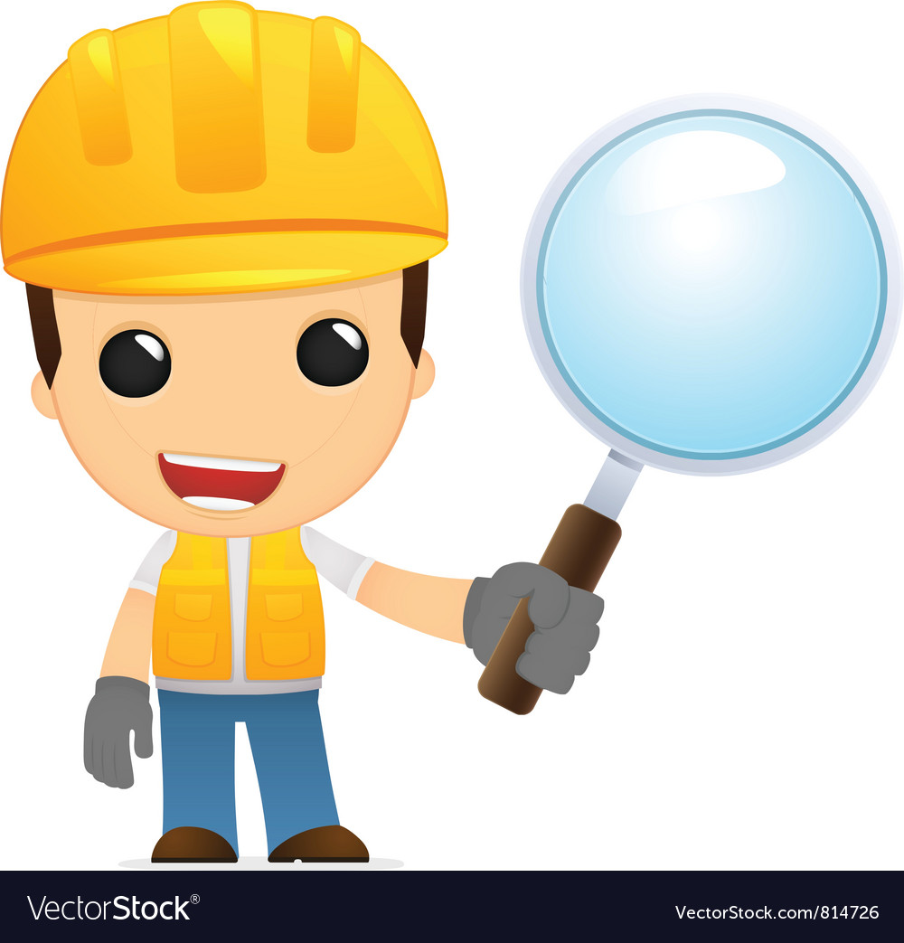 Funny cartoon builder vector