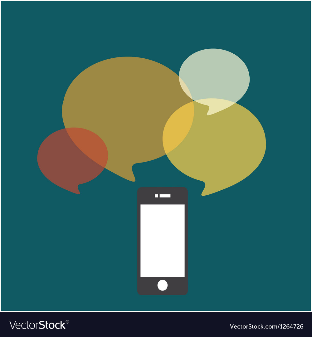 Smartphone bubble quote vector
