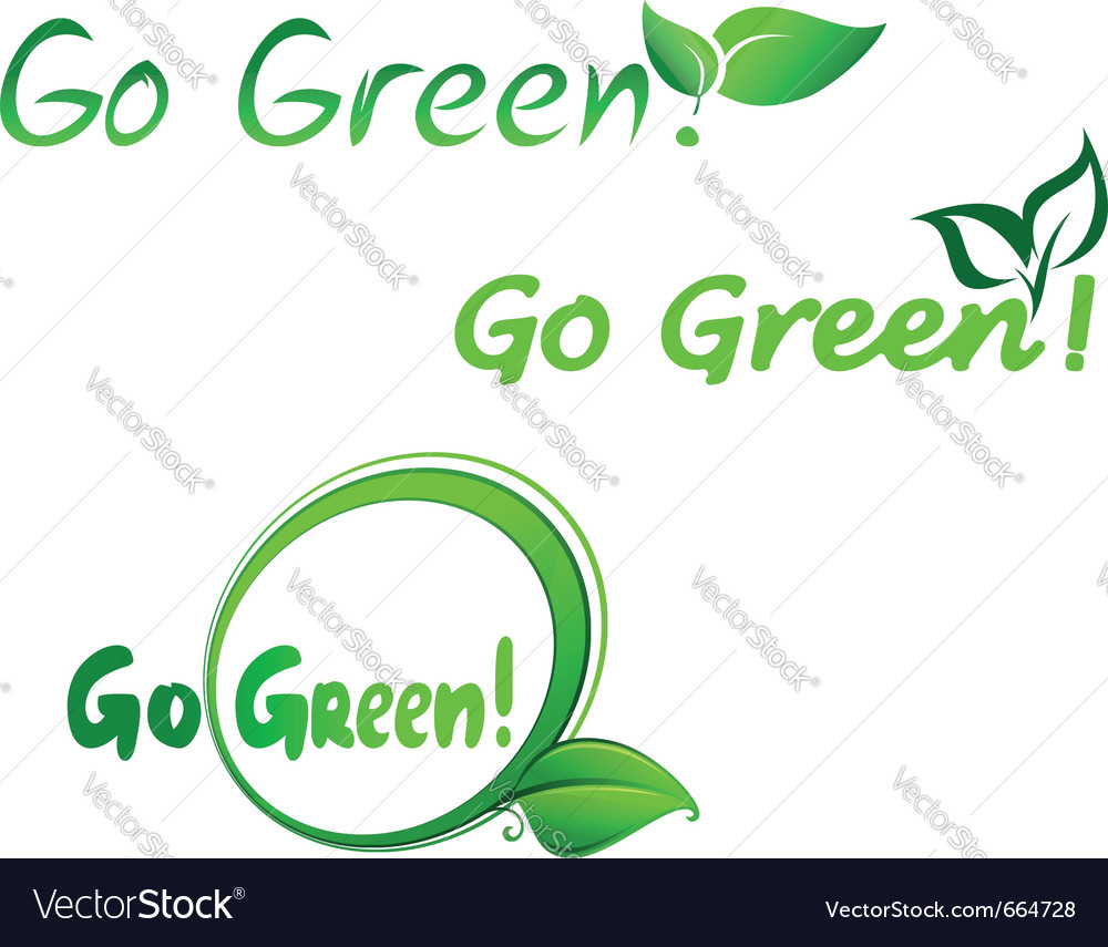 Green symbols for ecology design vector