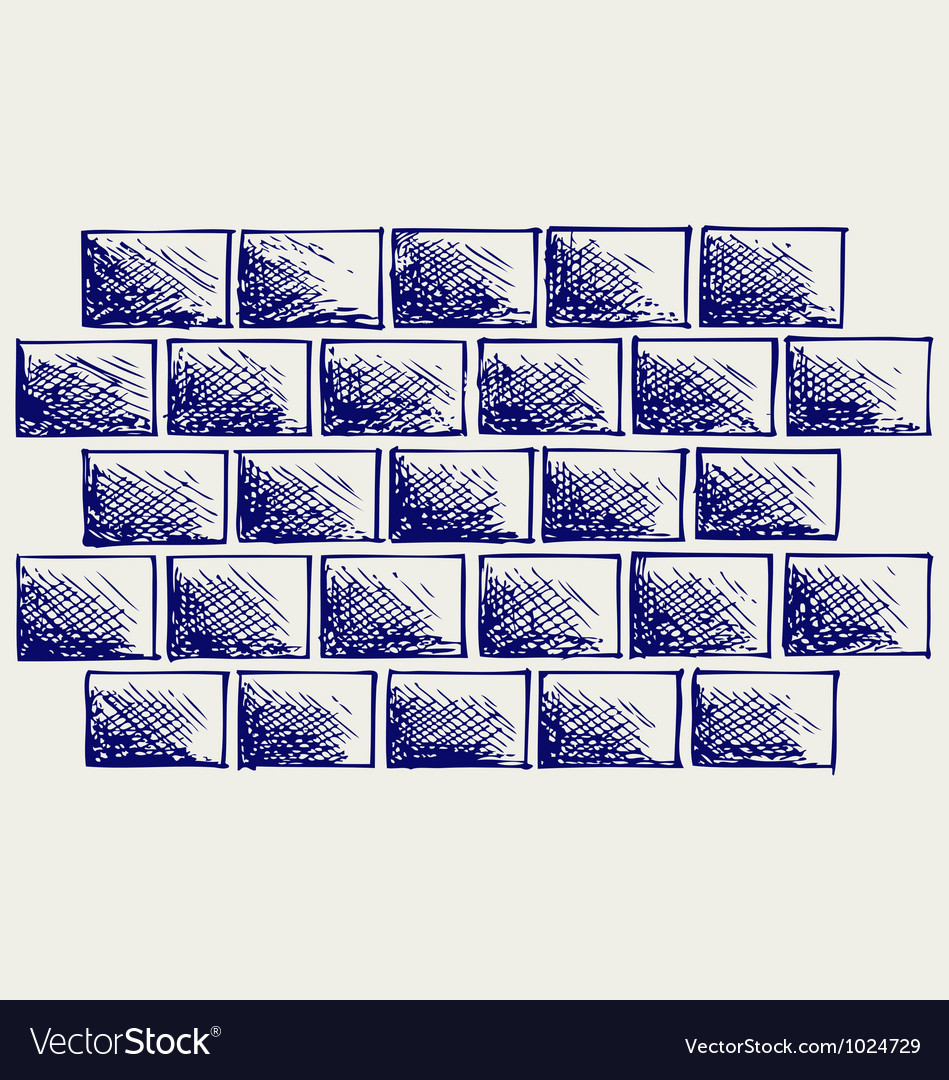 Old bricks vector