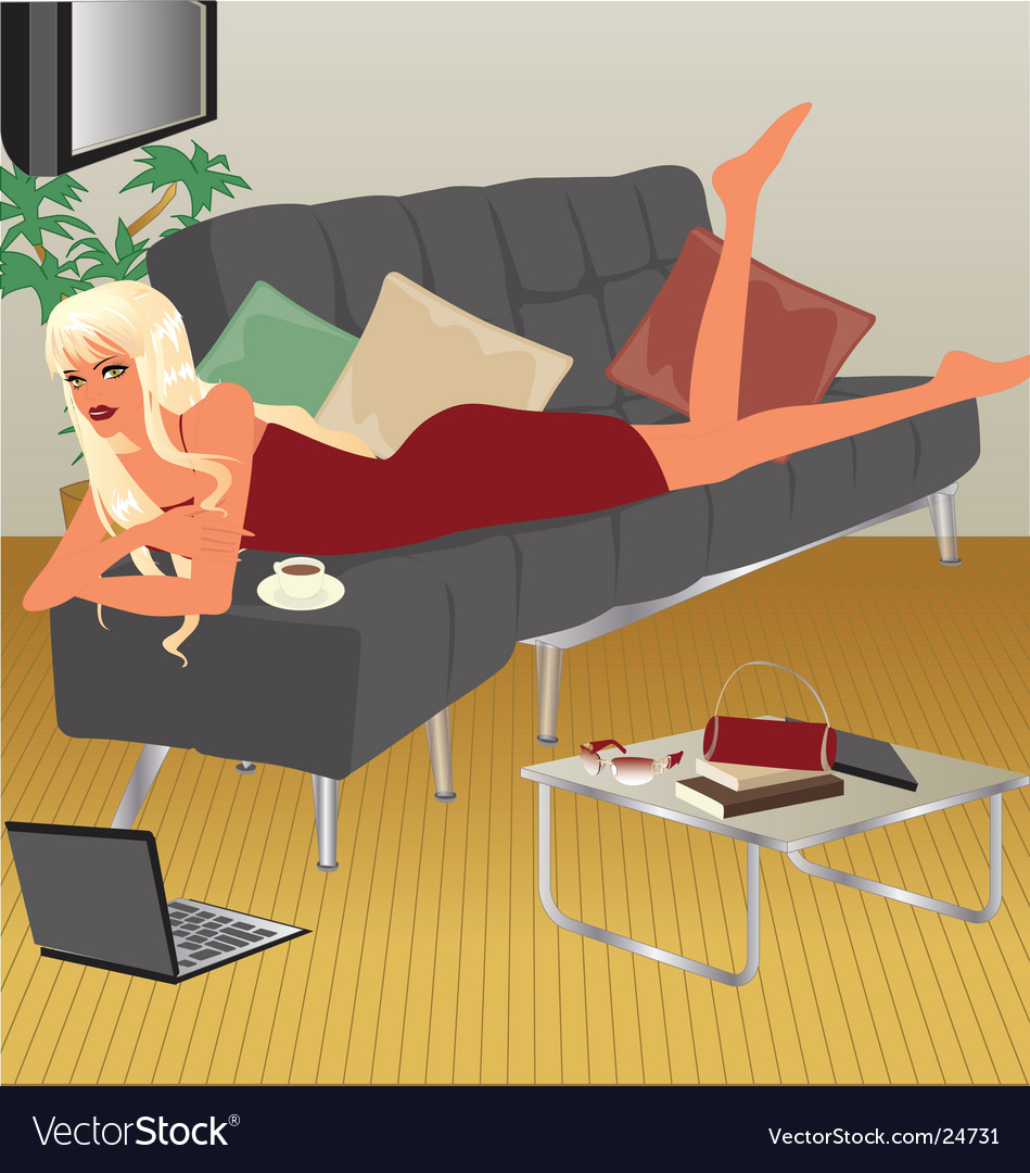 Living-room vector