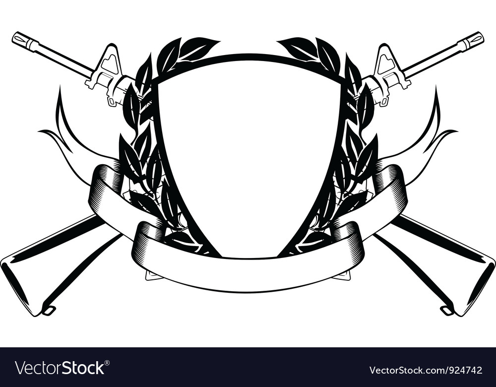 Military frame vector