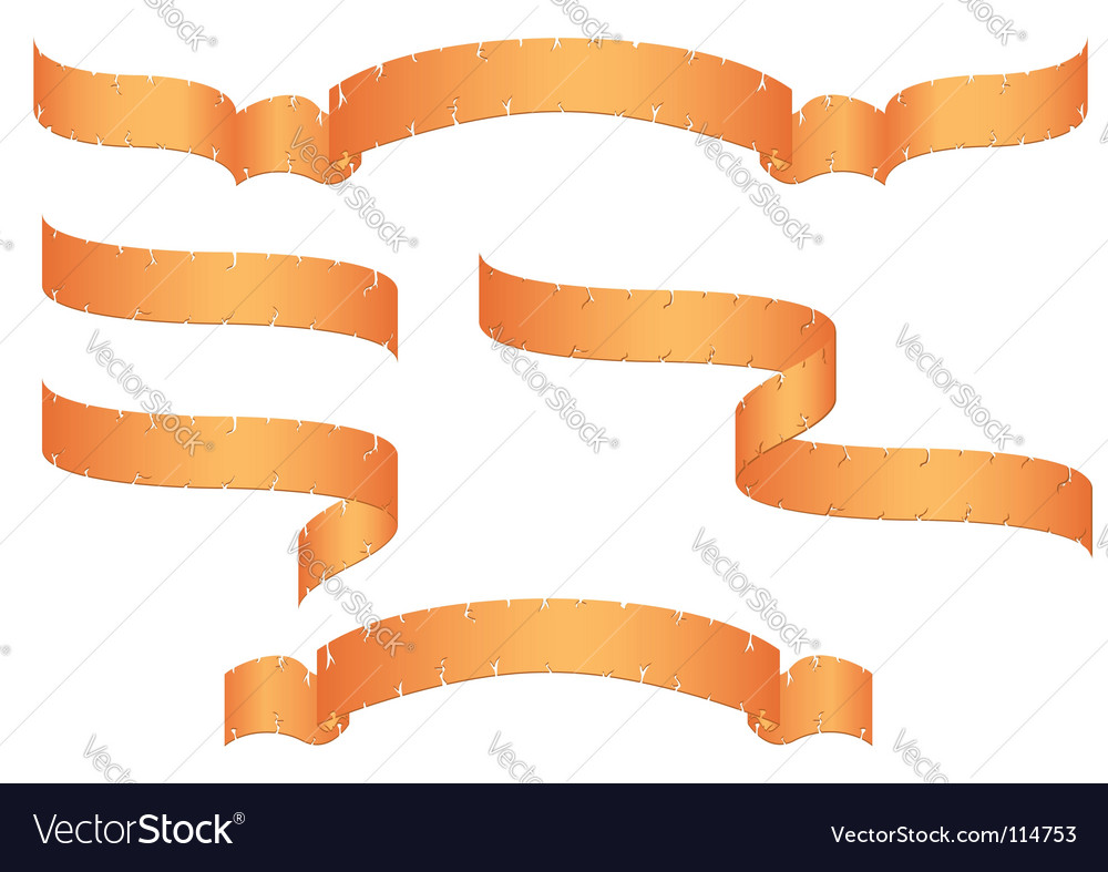 Old banners vector