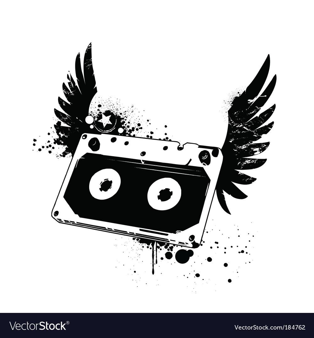 Grunge tape vector
