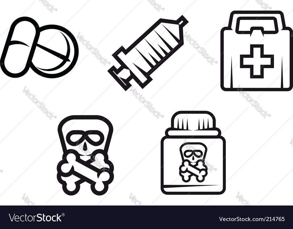 Medicine symbols vector