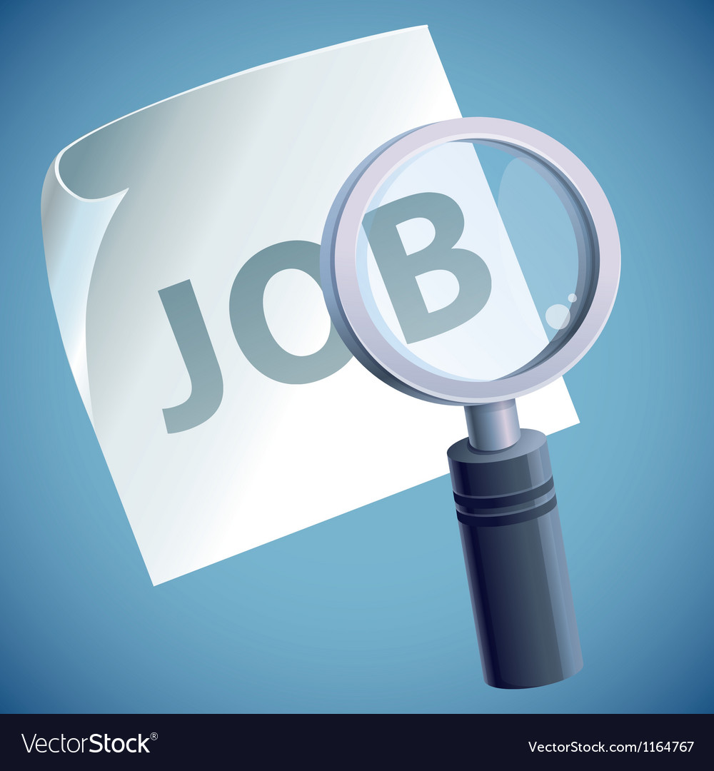 Concept  job searching vector