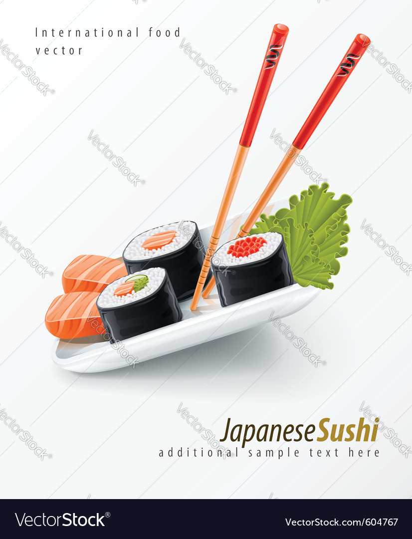 Sushi japanese food vector