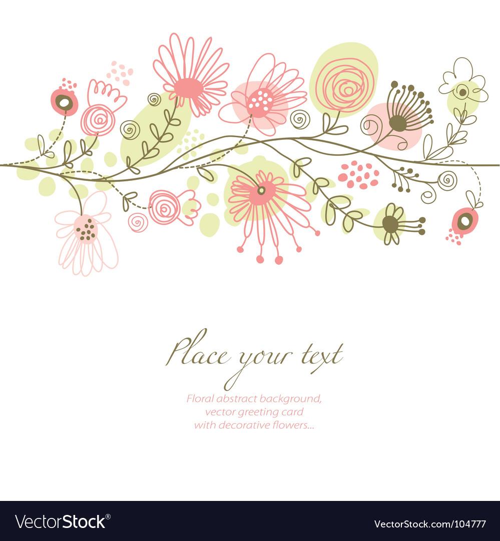 Romantic floral vector by Lenlis - Image #104777 - VectorStock Flower Vine Clipart