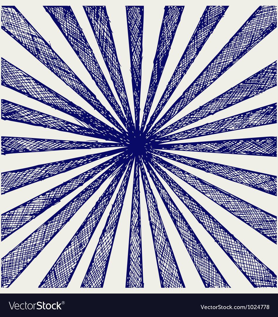 Circus sunburst background vector