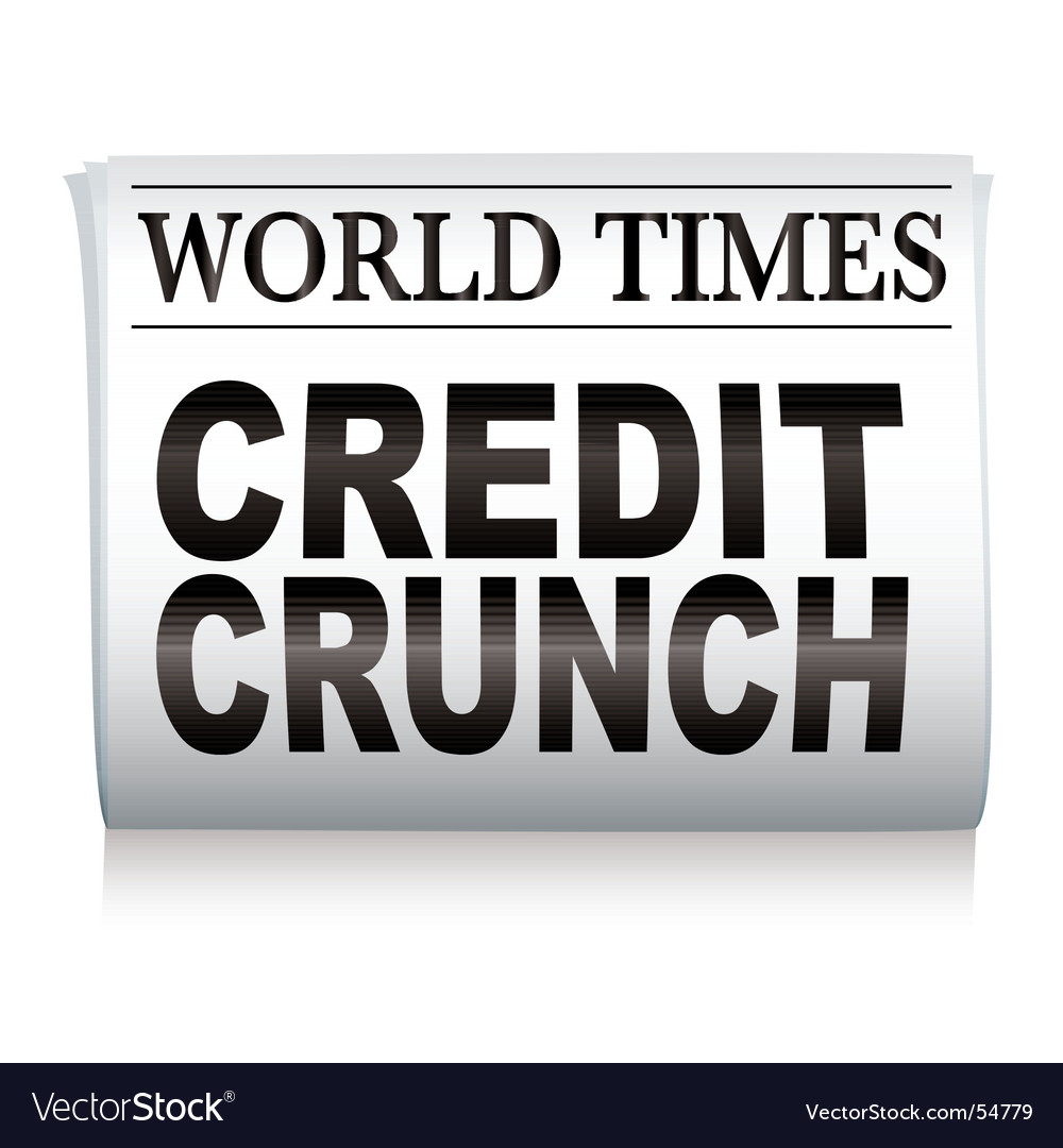 Newspaper credit crunch vector