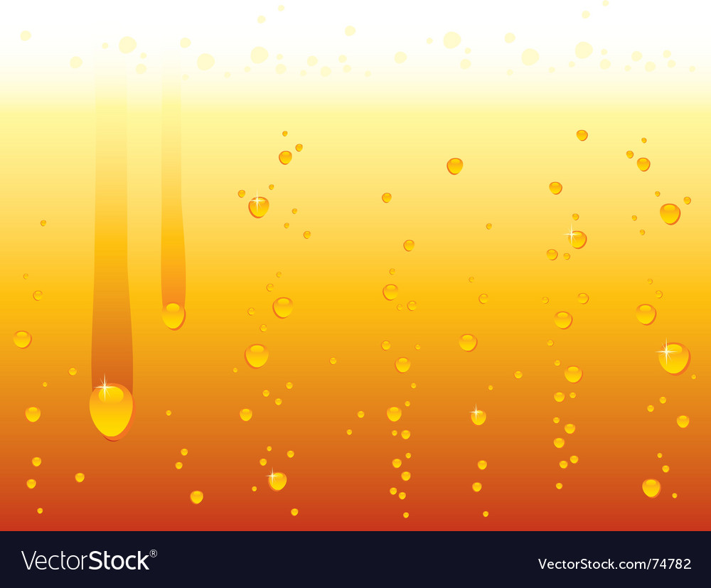 Drops orange vector