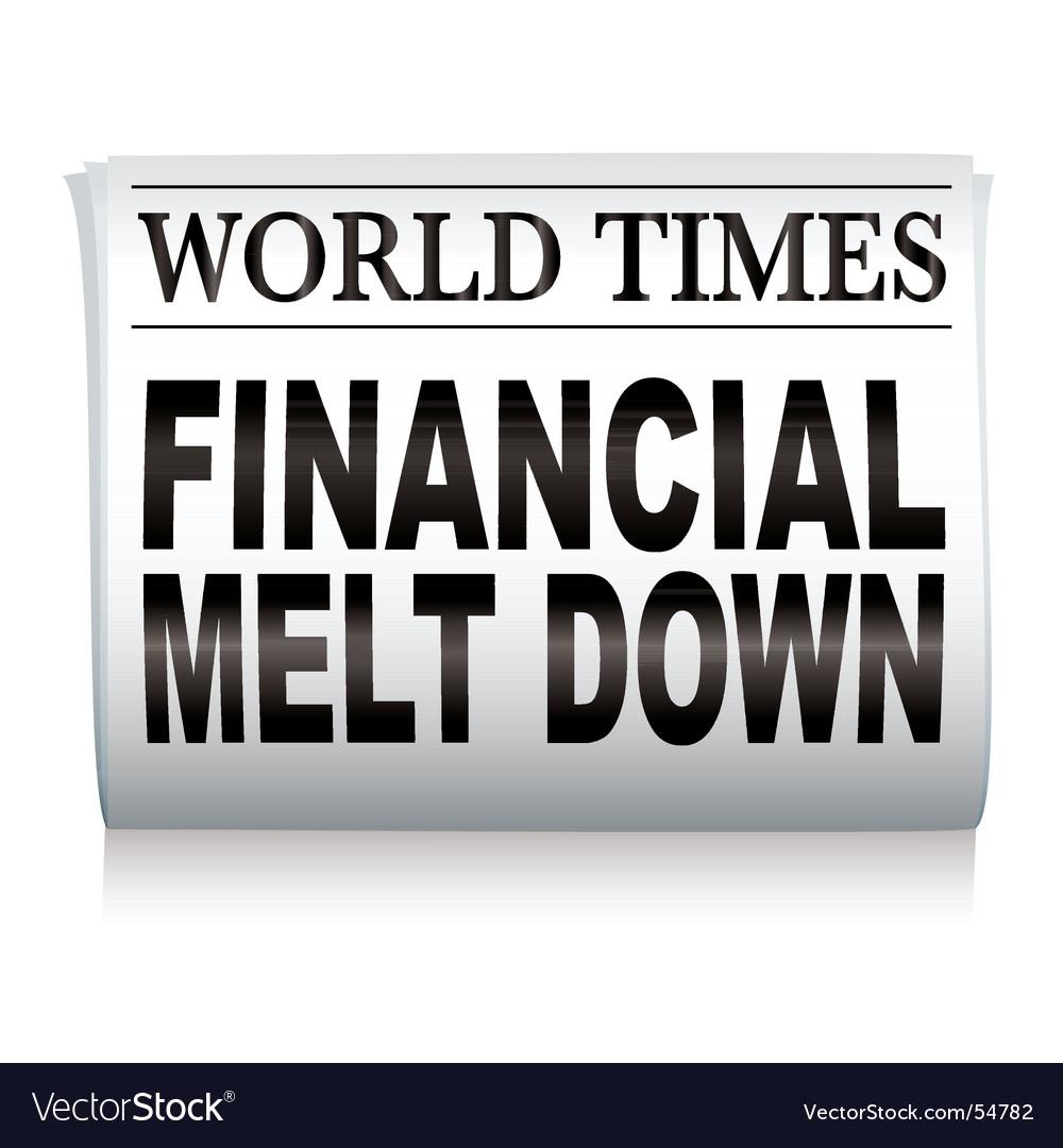 Newspaper financial vector