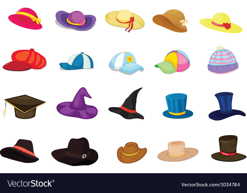 Mixed hats vector