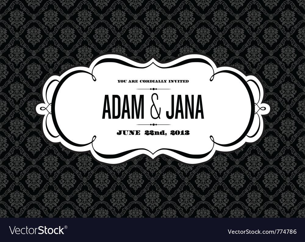 Wedding invites vector