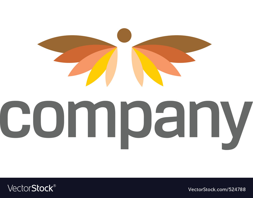 Angel wings logo for heaven vector