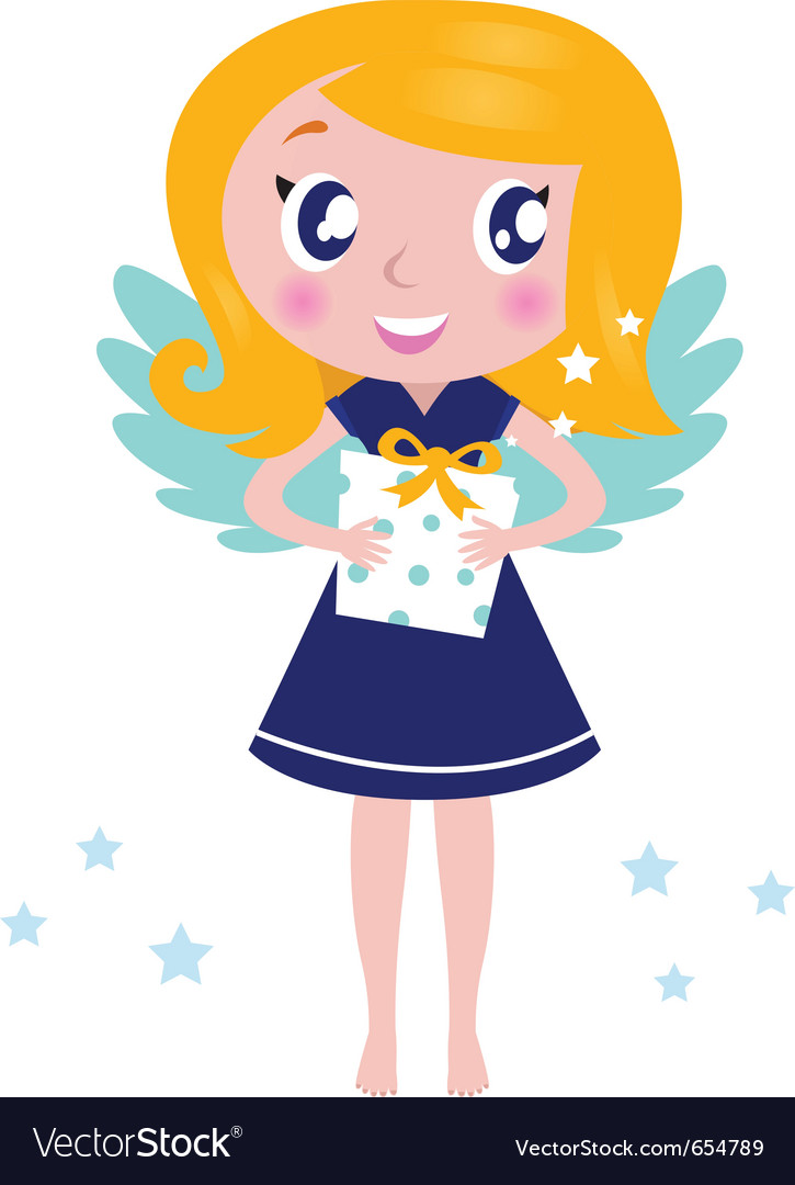 Cute Christmas Angel Happy little christmas angel Happy Child Clipart