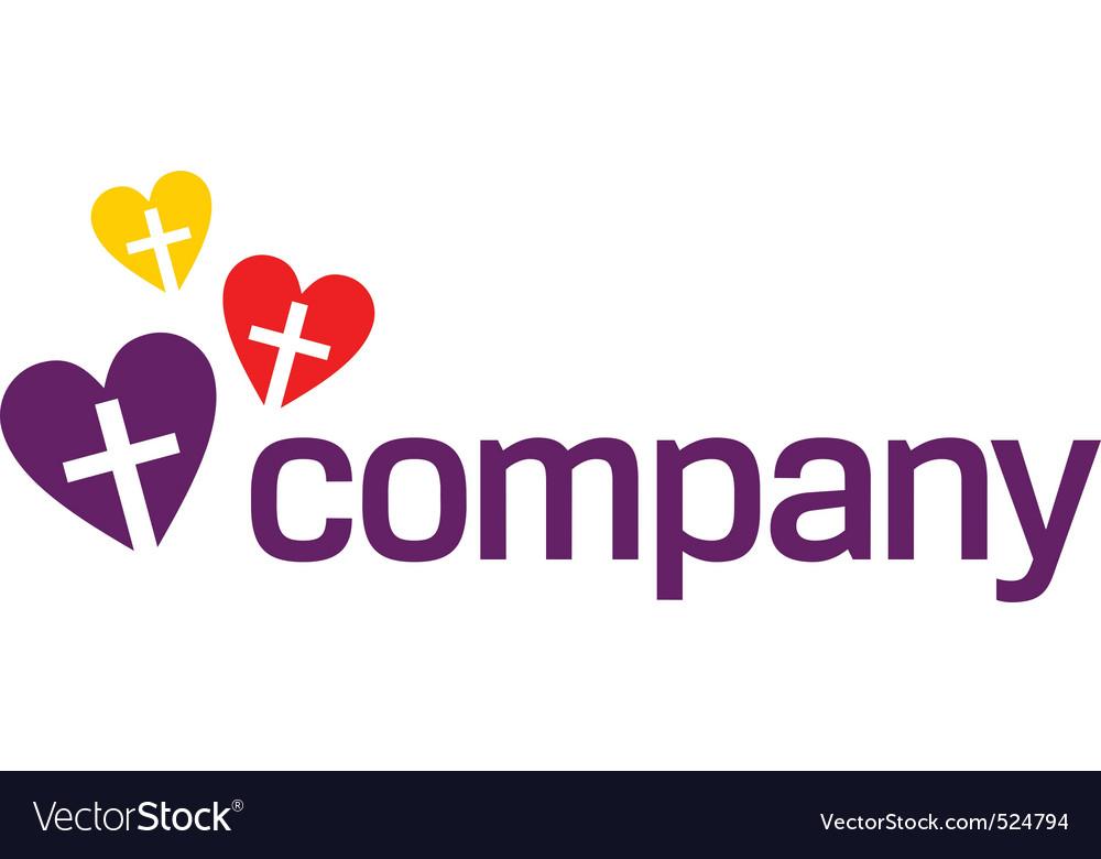 Colour religion love logo vector