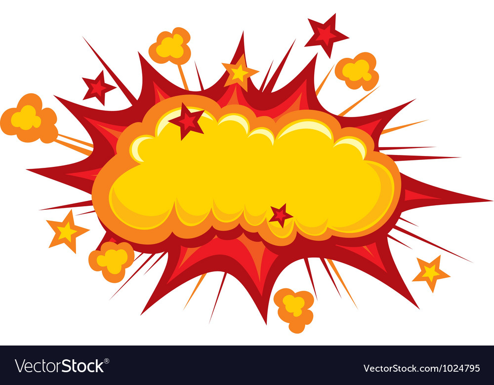 Cartoon - boom vector
