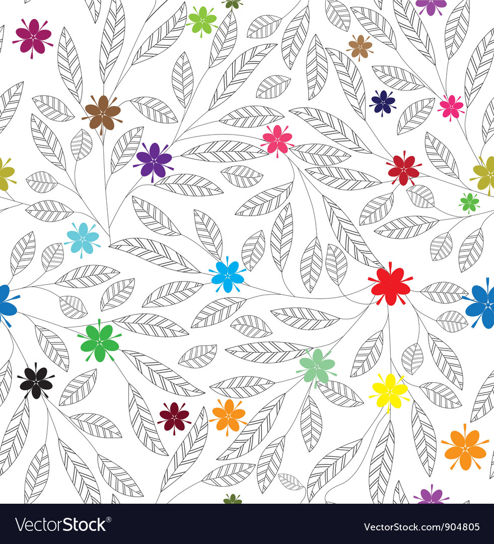 Leaf patter flowe vector