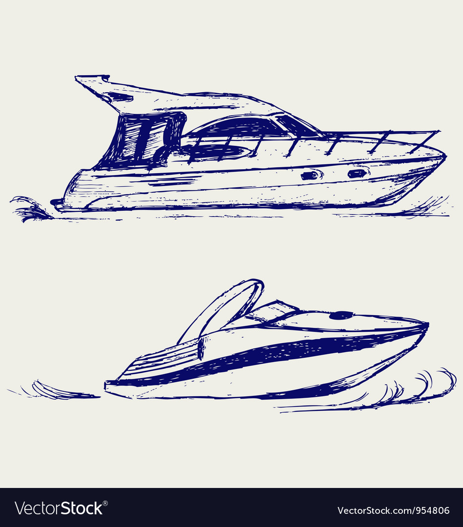 Luxury yacht vector