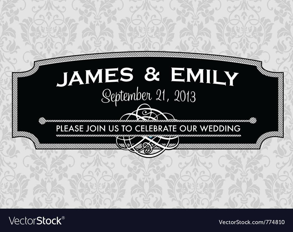 Wedding invites vector