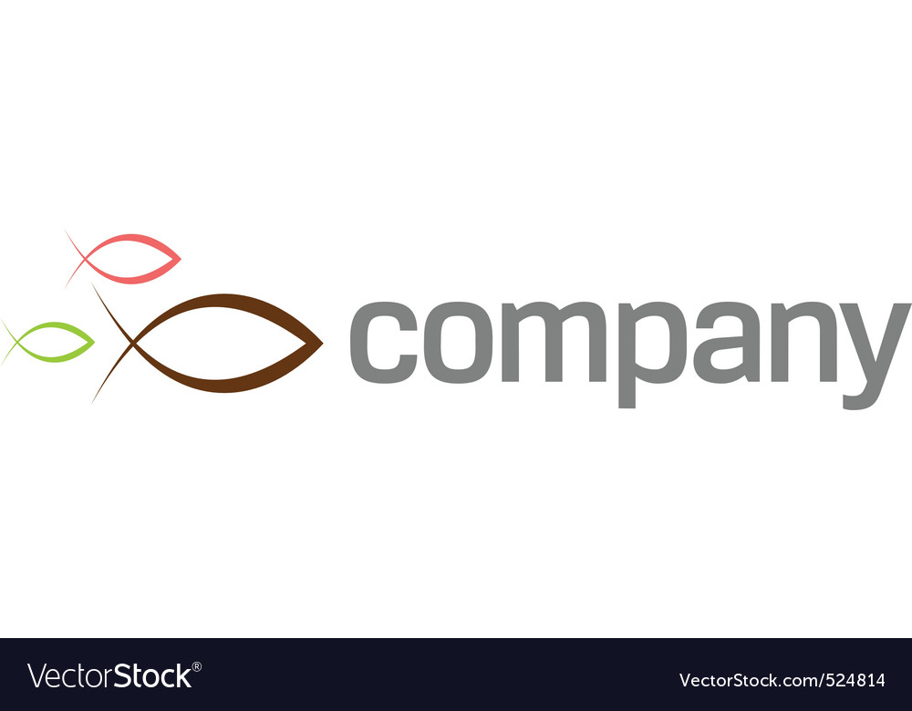 Ichthus symbol logo vector