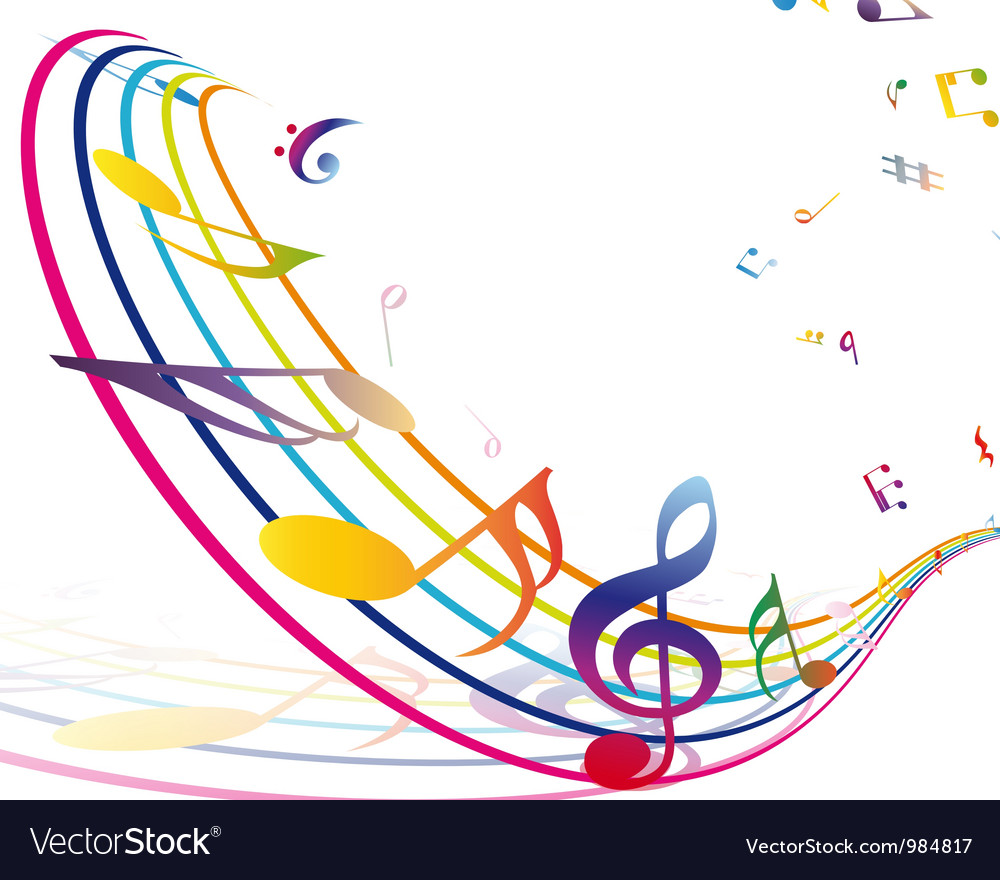 Colorful Musical Notes Border Multicolour musical notes