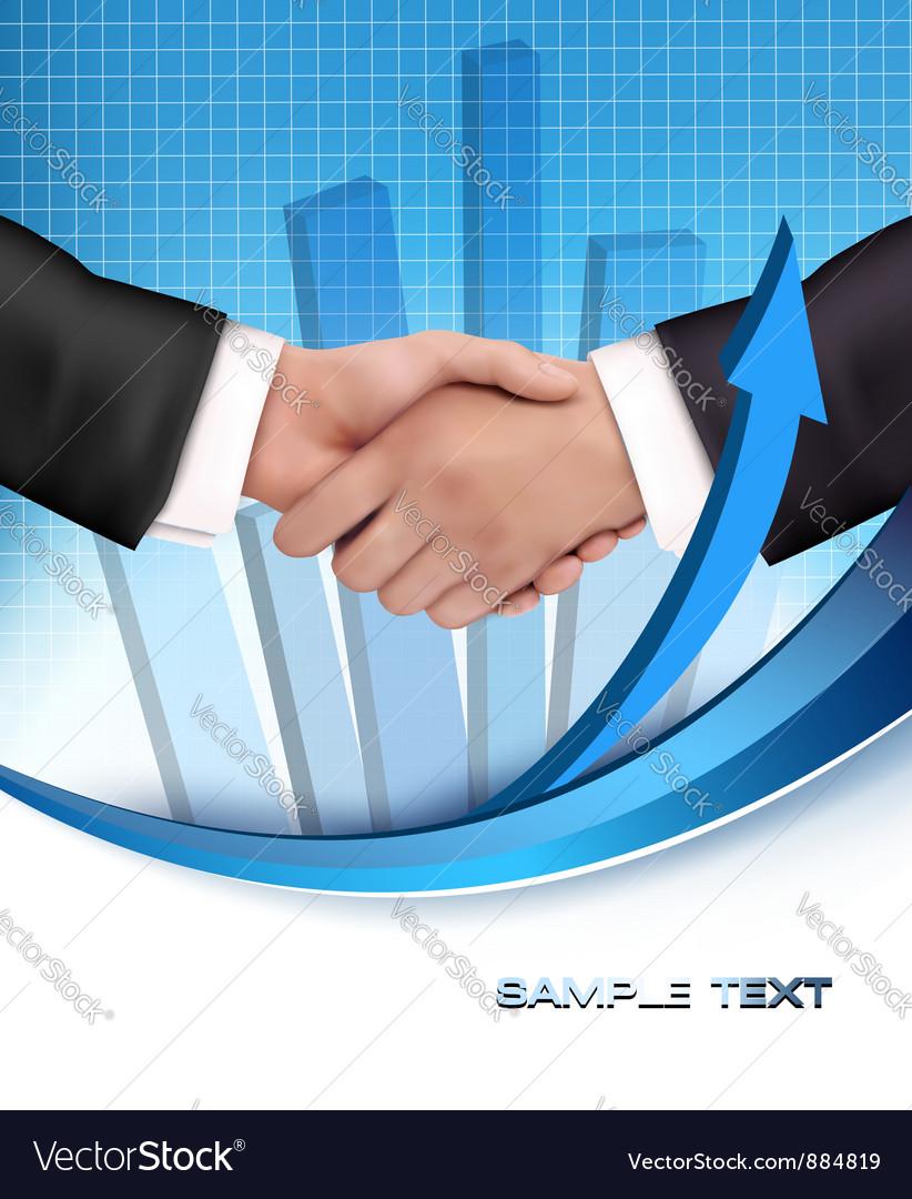 Business people handshake vector