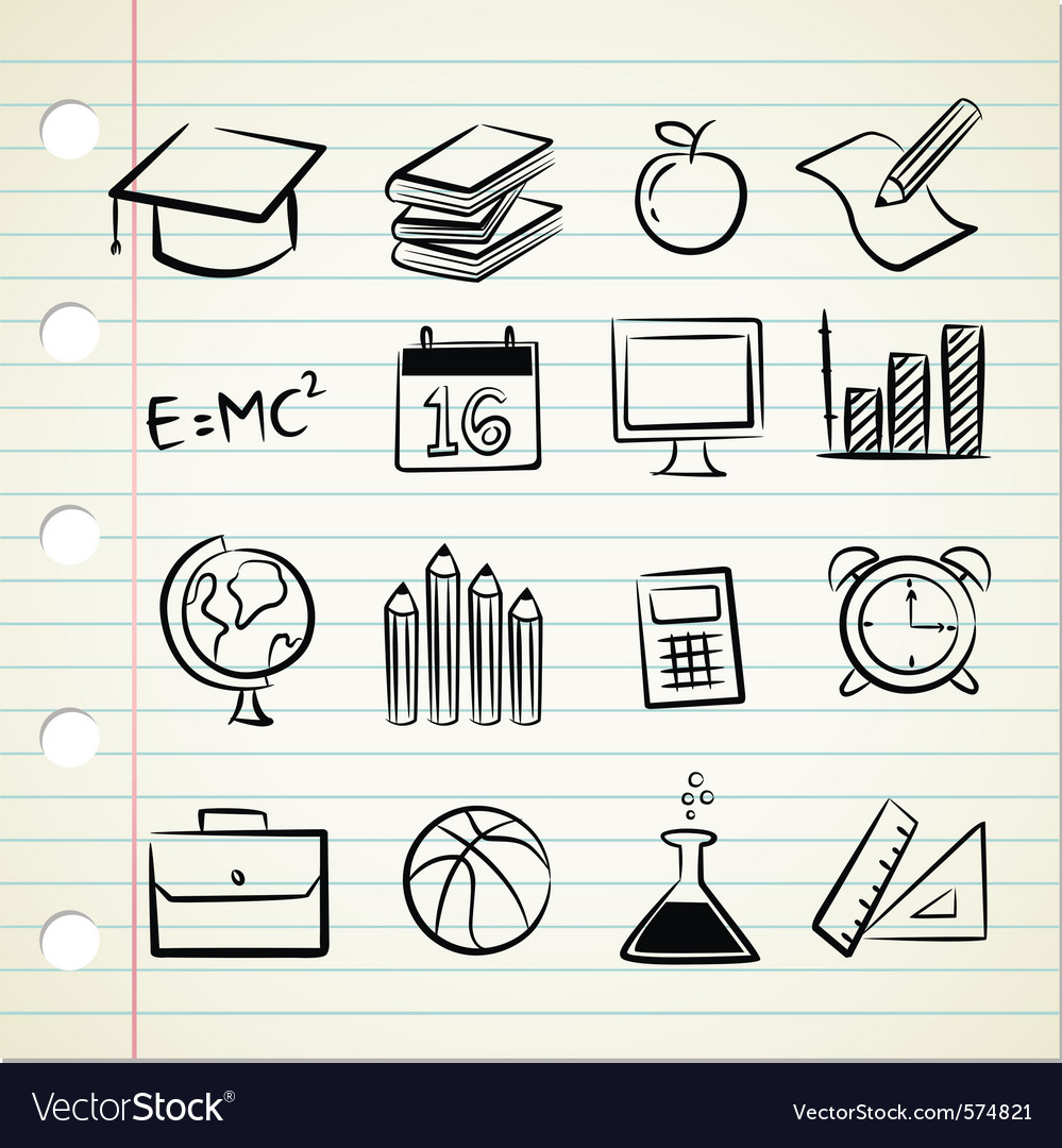 Sketchy education vector
